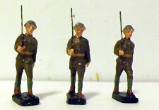 Vintage 3 US Marching Composition Toy Soldier 58mm MARKED JAPAN