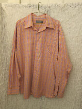 Talbot Mens Casual Multi-color Checked Button Down Shirt