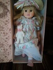 "Pauline Bjonness Jacobsen~SARAH Doll 18"" Limited Edition Grandmas Garden In Box."