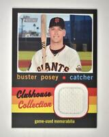 2020 Heritage High Number Clubhouse Collection Relic #CCR-BP Buster Posey