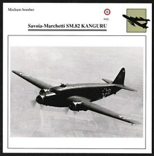 Italy Savoia-Marchetti SM.82 KANGURU Medium Bomber Warplane Aviation Card