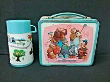 Lot 2 = Country Bear Jamboree Monorail Disney metal lunch box + Thermos Aladdin