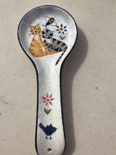 Cat lover Gift spoon rest Creatively Yours Karen DeAlwis D's Ceramic handpainted