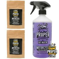 Guy Martin Proper Motorcycle Cleaner - Trigger Bottle & 4x 750ml Refill Capsules