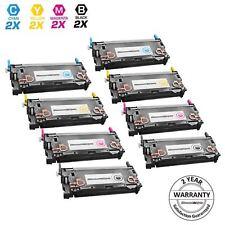 Reman Toner for HP 501A 502A Cartridge Q6470A Black & Color 8pk Set 3600 3600dn