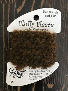 Rainbow Gallery FLUFFY FLEECE Thread FE5 Dark Brown For Beards Fur New 3Yrd Card