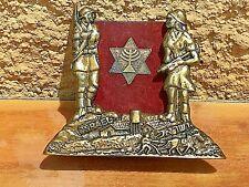 Original Palestine Pre-Israel Period 1919-1948 Bronze Holder Soldiers Zionizm