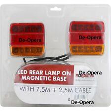 LED TRAILER LIGHT MAGNETIC REAR LAMP 7.5M CABLE TOW LIGHTBOARD CARAVAN NEW VAN