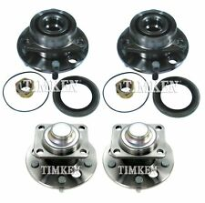 Front and Rear Wheel Bearing & Hub Assy Kit Timken For Century Cutlass Ciera FWD