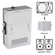 Phono Preamp for Turntable & Record Player - Output to HiFi, Amplifier, Mixer