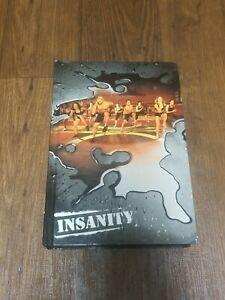 Insanity Total Body Workout Program Complete 10 DVD Set Book Case, Program Chart