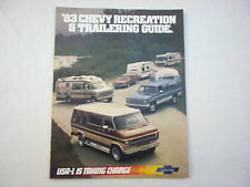 1983 Chevy Recreation & Trailering Guide sales brochure GM original MINT!