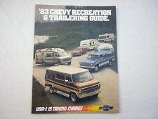 1983 Chevy Recreation & Trailering Guide sales brochure GM original MINT!
