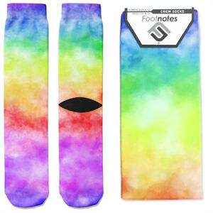 Rainbow Tie-dye Crew Socks - Footnotes Novelty Socks