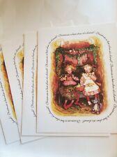 Lot 4 Vtg 1980s Holly Hobbie Christmas Cards; Plus Mark / American Greetings