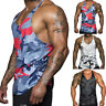 MenS Gym Singlet Tank Top Tee Stringer Bodybuilding Y-Back Muscle Fitness Vest