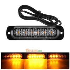 12-24V 6 LED Slim Flashing Light Bar Car Vehicle Emergency Warning Strobe Lamp