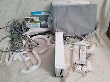 HUGE Nintendo Wii Console RVL-001, 2 Controllers, 2 Nunchucks, 6 Games, Bundle