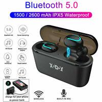 Bluetooth 5.0 Headset TWS Wireless Earphones Twins Earbuds Bass Stereo Headphone