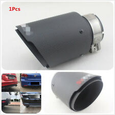 Inlet 63mm Outlet 101mm 100% Real Carbon Fiber Mattle Black Exhaust Tips Muffler