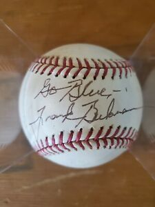 Frank Beckman WJR U OF M Michigan Wolverines Autographed Baseball