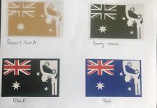 4 x Punisher Australian Flag Sticker car Military Army Skull ANF Army