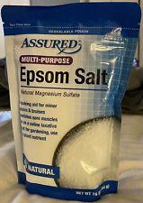 Assured All Natural Multi-purpose Epsom Salt 16oz bag