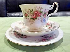 ROYAL ALBERT LAVENDER ROSE CUP SAUCER PLATE TRIO 1960s