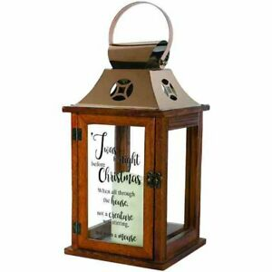 "Carson Twas the Night Decorative Candle Lantern 13.5"" Tall"