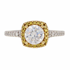 NEW Semi-Mount Halo Engagement Ring - 18k Gold Diamonds 6.5mm Round .40ctw
