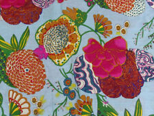 10 Yard Ethnic Fruit 100 % Screen Print Indian Cotton Fabric Sewing Decor