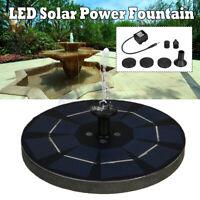 LED Pannello Solare Alimentato Acqua Caratteristica Pompa Giardino Piscina Pond