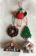 PATCHWORK / QUILTING APPLIQUÉ CHRISTMAS TREE DECORATIONS SEWING PATTERN by Gail