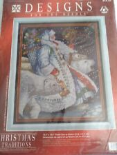 Polar Santa counted cross stitch Partial Kit Designs for the Needle