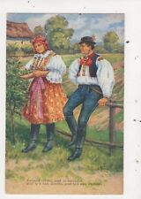 Eastern Europe Vintage Ethnic Art Postcard 866a