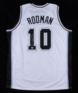 Dennis Rodman Signed San Antonio Spurs Jersey (Beckett COA) 5xNBA Champion