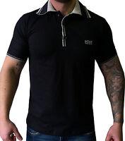 Hugo Boss Short Sleeve Modern Fit Black Polo Shirt . Size S