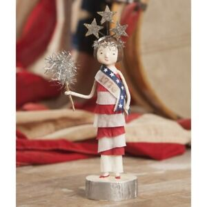 Bethany Lowe MISS 1776 Patriotic Figure by Michelle Lauritsen (ML8898)
