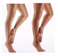 Girls Ladies 70 Den Shimmer Light Toast Tan Full Foot Ballet Dance Tights Katz