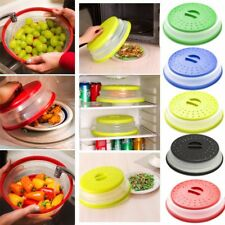 Microwave Plate Cover Collapsible Colander Strainer Storage 2 in 1 Kitchen Tools