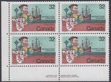 Canada - #1011 Jacques Cartier Plate Block - MNH