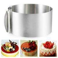 "6""-12"" Adjustable Stainless Steel Mousse Cake Ring Layer Baking Mold G6Y2"
