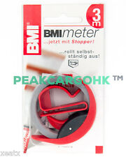 "Measuring Ruler Pocket tapes 429 BMImeter 3m/118"" break-proof durable Germany"
