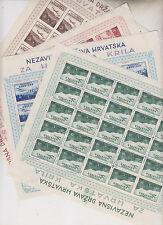 CROATIA,WW II,wings sheet set with engrawers marks 1,9,4,2 ,hinged on margin #