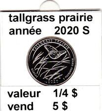 pièces de 1/4 $  tallgrass prairie 2020 S