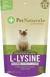 Pet Naturals Of Vermont L-Lysine Supplement 60Count