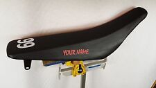HONDA CRF 450R  GRIPPER SEAT COVER NAME AND NUMBER FITS  2009 - 2012 BLK / GRIP