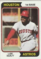 FREE SHIPPING-NRMINT-1974 TOPPS LEE MAY #500 HOUSTON ASTROS