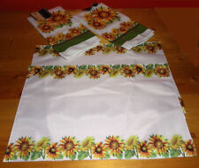 Home Collection Sunflower Kitchen Towels & Placemats Washable Sunflower Accents