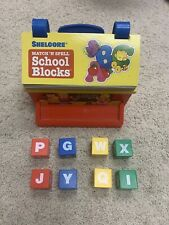 "1983 Shelcore Vintage ""Match n' Spell School Blocks"" Set Complete Homeschool"
